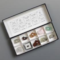 蛍光鉱物標本10種(長波)
